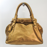 Fendi Selleria 8BN155 Women's Leather Handbag Gold