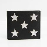 Saint Laurent Star 361320 Unisex  Calfskin Bill Wallet (bi-fold) Black,Silver