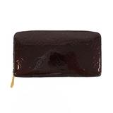 Auth Louis Vuitton Monogram Vernis Zippy wallet M93522 Women's Monogram Vernis Long Wallet (bi-fold) Amarante