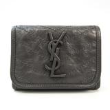 Saint Laurent 583570 Men's  Calfskin Wallet (tri-fold) Gray
