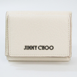 Jimmy Choo NAIMA J000103131001 Women's Leather Wallet (tri-fold) Off-white