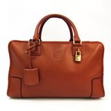 Loewe Amazona 36 Women's Leather Handbag Brown