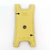 Hermes Leather Accessory Yellow Earphone holder