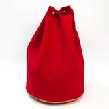 Hermes Matelot Marcel Women's Canvas,Leather Shoulder Bag Red Color
