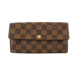Auth Louis Vuitton Damier Portofeuil Sara N61734 Women's  Long Wallet (bi-fold)