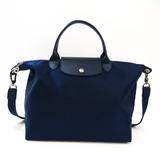 Longchamp Le Pliage Neo 1515 578 556 Women's Nylon,Leather Handbag,Shoulder Bag Navy