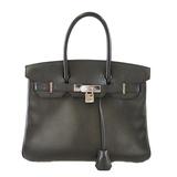 Auth Hermes Birkin Birkin 30□K Stamp Women's Epsom Leather Handbag Black