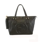Auth  Gucci Soho Tote Bag 282307 Women's Leather Handbag,Tote Bag Black
