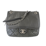 Auth Chanel Matelasse Chain Shoulder Women's Leather Shoulder Bag Black