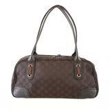 Auth Gucci Sherry Line Shoulder bag 293594 Women's Canvas Handbag,Shoulder Bag Brown