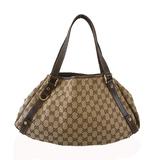 Auth Gucci GG Canvas Tote Bag 130736 Women' Handbag Beige