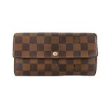 Auth Louis Vuitton Damier Portefeuille Sara N61734 Women's  Long Wallet (bi-fold)