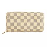 Auth Louis Vuitton Damier Azur Zippy Wallet N60019  Long Wallet