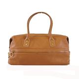 Auth Celine Handbag Women's Leather Brown
