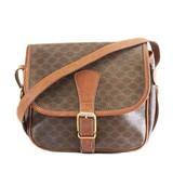 Auth Celine Macadam Shoulder Bag Women's PVC Shoulder Bag Brown