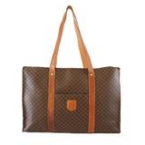 Auth Celine Macadam Tote Bag Women's PVC Brown
