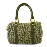 Auth Christian Dior Trotter Handbag Women's Canvas Handbag Navy