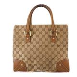 Auth Gucci GG Canvas Hand Bag 120895 Women's GG Canvas Handbag Beige