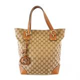 Auth Gucci GG Canvas Tote Bag 247237 Women's Beige