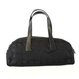 Auth Chanel New Travel Line Tote Bag Women's Nylon Canvas Black