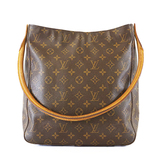 Auth Louis Vuitton Monogram Looping GM Looping GM M51145 Women's Shoulder Bag