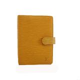 Auth Louis Vuitton Epi Planner Cover Jaune agenda PM R20059