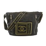 Auth Chanel Sport Shoulder Bag Women's Nylon Shoulder Bag Black