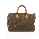 Auth Louis Vuitton Monogram Speedy 35 M41107 Women's Handbag Monogram