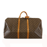 Auth Louis Vuitton Monogram Keepall60 M41422 Men,Women,Unisex Boston Bag Monogram