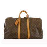 Auth Louis Vuitton Monogram Keepol 55 M41424 Men,Women,Unisex Boston Bag