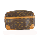 Auth Louis Vuitton Monogram Compiegne 28 M51845 Men's Clutch Bag,Pouch Monogram