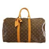Auth Louis Vuitton Monogram Keepol 45 M41428 Men,Women,Unisex Boston Bag