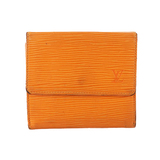 Auth Louis Vuitton Epi Porto Monevier Cult Credit Mandarin Orange M6348H Women's  Wallet (tri-fold)