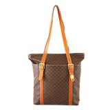 Auth Celine Macadam Tote Bag Women's PVC Tote Bag Brown