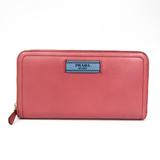 Prada 1ML506 Women's  Calfskin Long Wallet (bi-fold) Blue,Pink