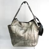 Jimmy Choo Women's Leather Shoulder Bag Black,Silver