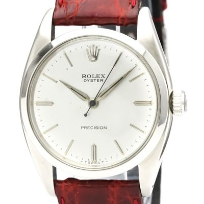 ROLEX Oyster Precision 6426 Steel Hand-Winding Mens Watch