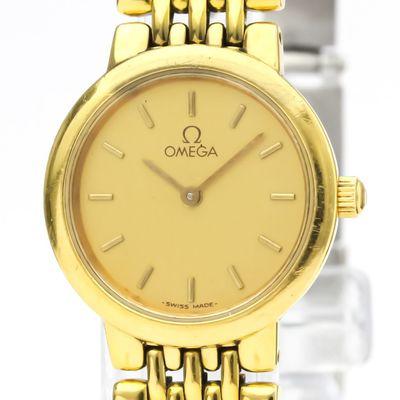 Omega De Ville Quartz Gold Plated,Stainless Steel Women's Dress/Formal 795.0897