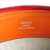 エルメス(Hermes) ユニセックス レザー ポーチ オレンジ,レッド