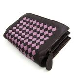 ボッテガ・ヴェネタ(Bottega Veneta) イントレチャート 121060 ユニセックス  ラムスキン 財布(二つ折り) ダークパープル,パープル
