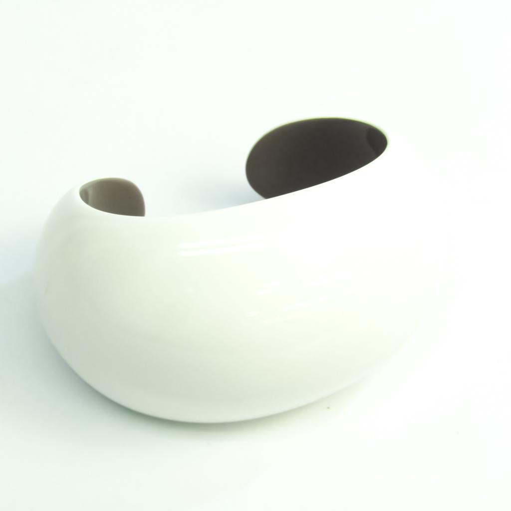 エルメス(Hermes) プラスチック バングル グレー,ホワイト