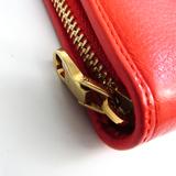 ロエベ(Loewe) Zip Around Wallet レディース  カーフスキン 長財布(二つ折り) オレンジ