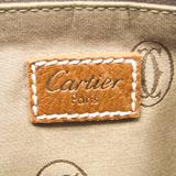 カルティエ(Cartier) マルチェロ MM レディース レザー ハンドバッグ ライトブラウン