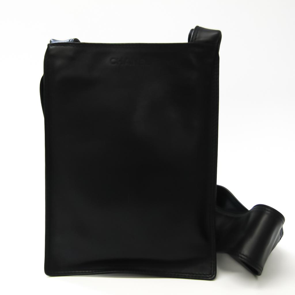 シャネル(Chanel) レディース レザー ショルダーバッグ ブラック