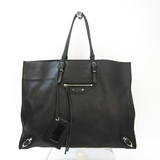 Balenciaga Paper Medium 338583 Unisex Leather Handbag,Tote Bag Black