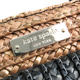 ケイト・スペード(Kate Spade) PXRU3448 レディース ストロー,レザー ハンドバッグ ブラック,ブラウン
