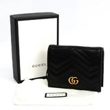 グッチ(Gucci) GGマーモント 466492 レザー カードケース ブラック