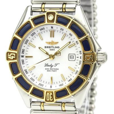 Breitling Lady J Quartz Stainless Steel,Yellow Gold (18K) Women's Dress Watch D52065