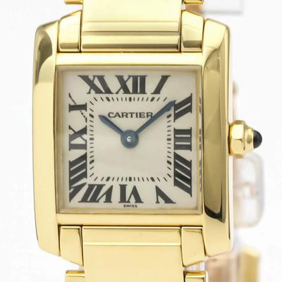 Cartier Tank Francaise Quartz Yellow Gold (18K) Women's Dress/Formal W50002N2