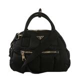 Auth Prada 2WAY Bag Test Women's Nylon Handbag,Shoulder Bag Black